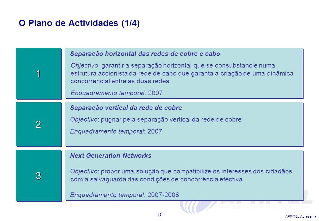 O Plano de Actividades (1/4)
