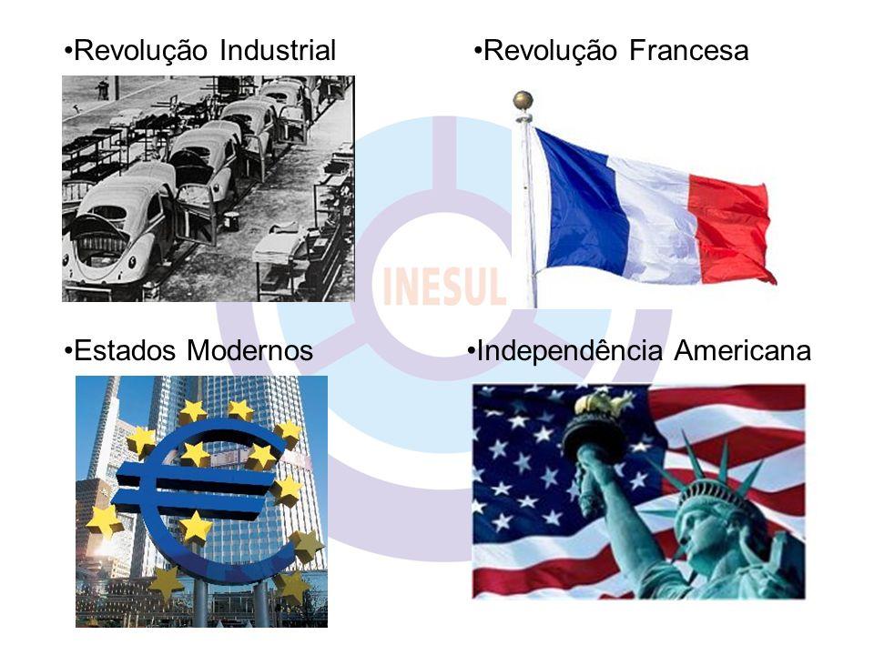 Revolução Industrial Revolução Francesa Estados Modernos Independência Americana