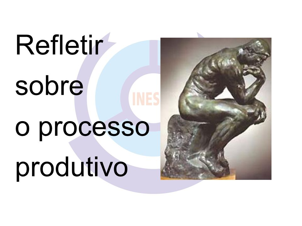 Refletir sobre o processo produtivo