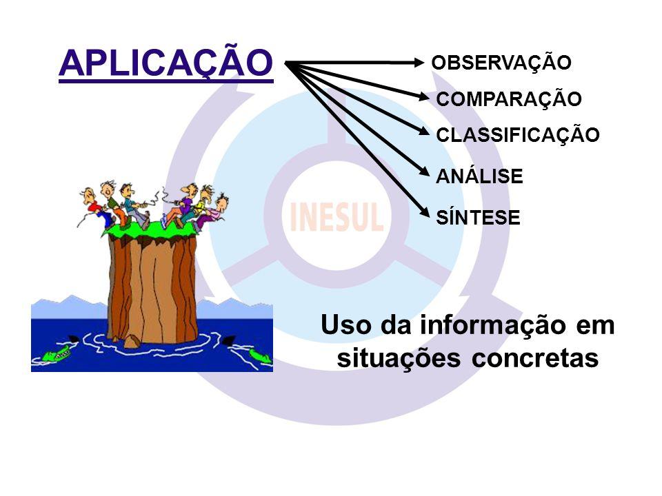 Uso da informação em situações concretas
