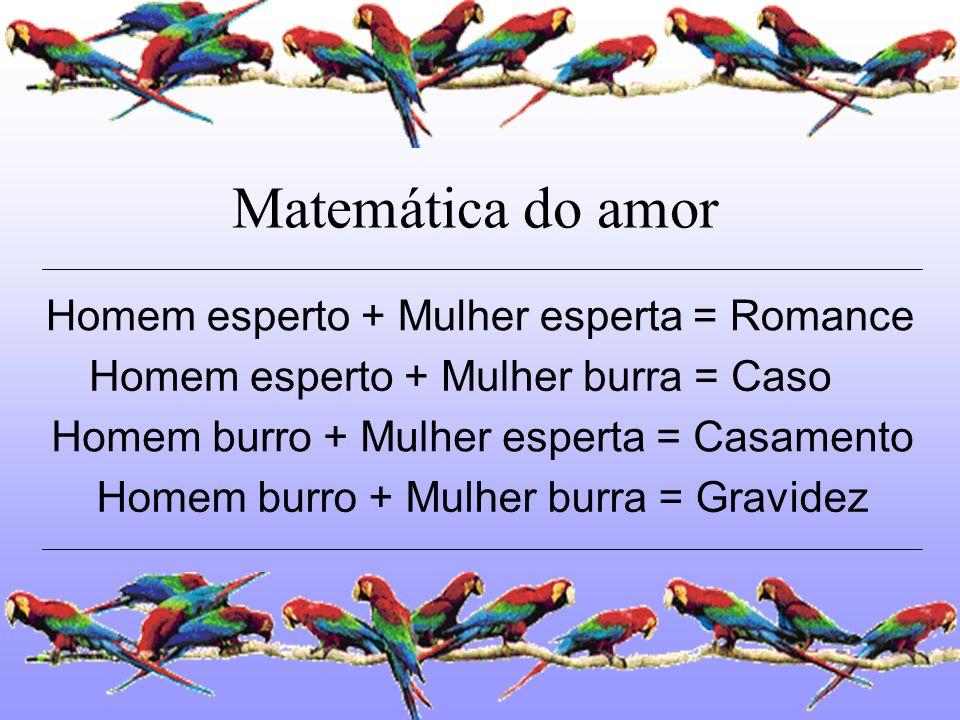 Homem esperto + Mulher esperta = Romance
