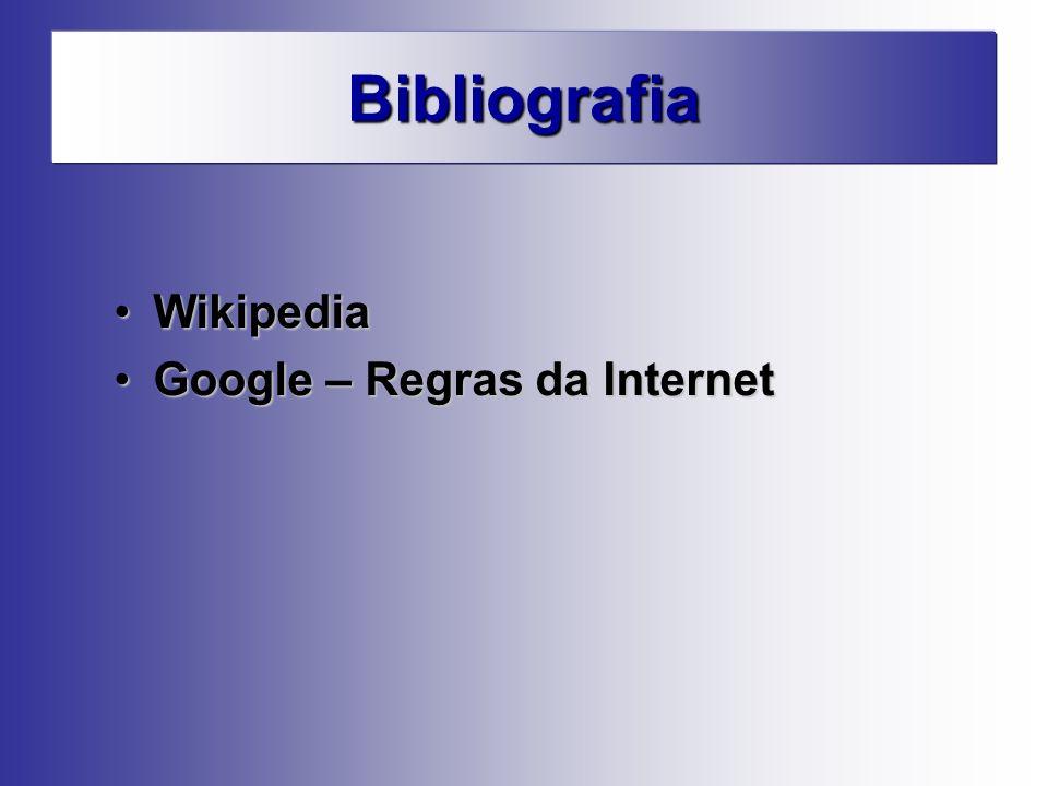 Bibliografia Wikipedia Google – Regras da Internet