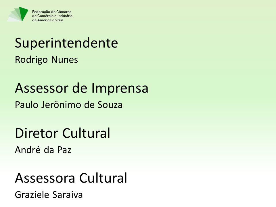 Superintendente Assessor de Imprensa Diretor Cultural