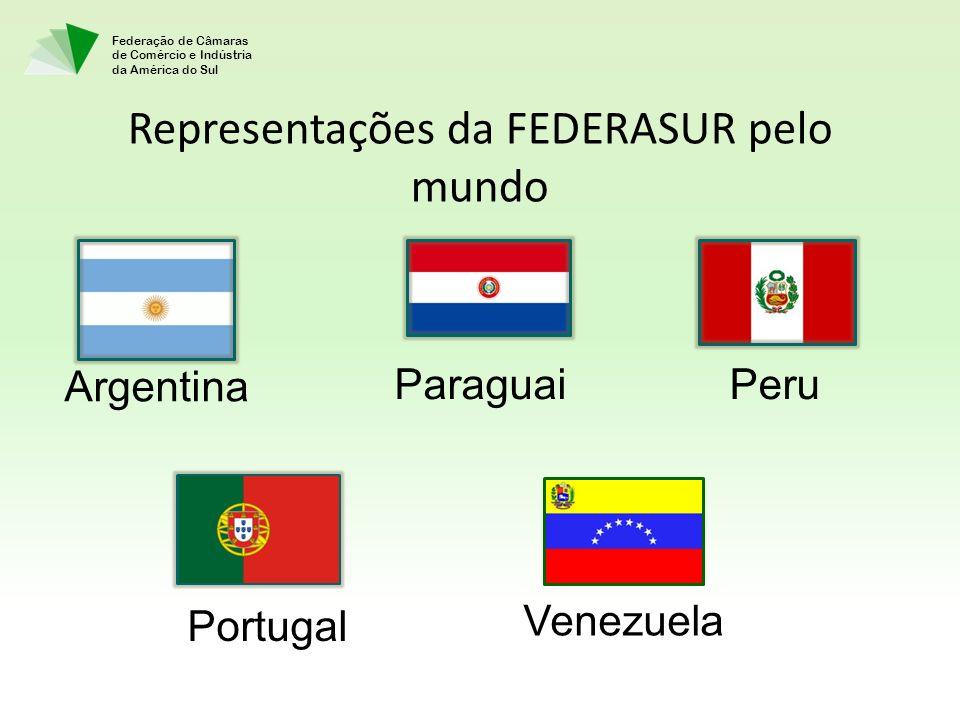 Representações da FEDERASUR pelo mundo