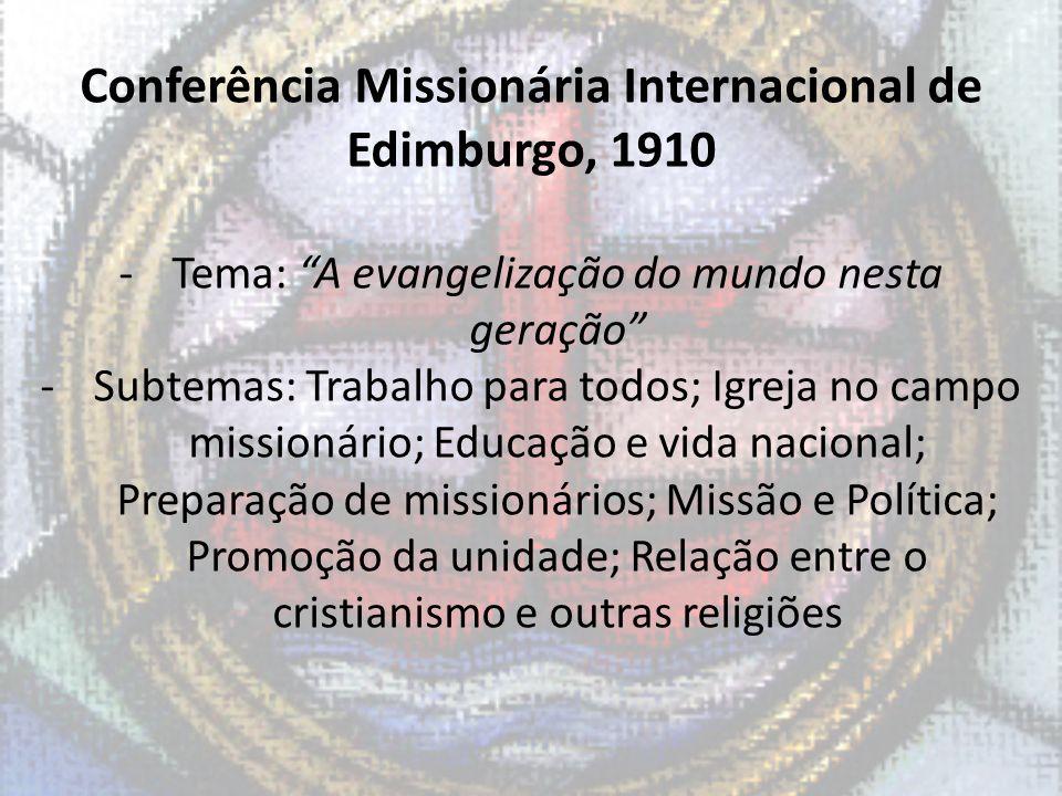 Conferência Missionária Internacional de Edimburgo, 1910