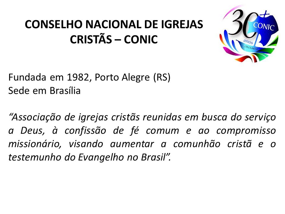 CONSELHO NACIONAL DE IGREJAS CRISTÃS – CONIC