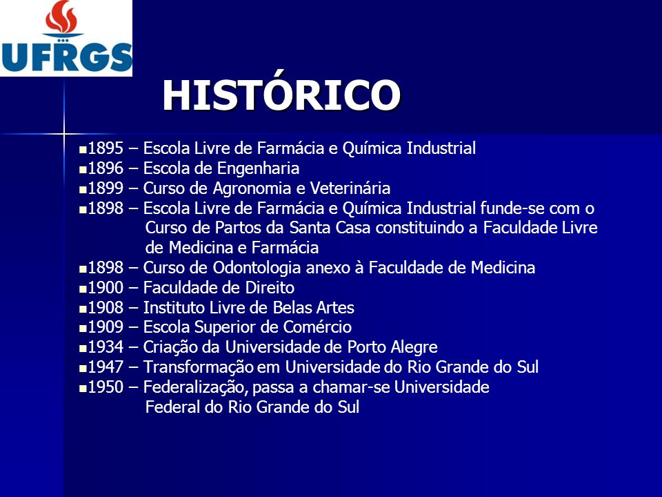 HISTÓRICO 1895 – Escola Livre de Farmácia e Química Industrial