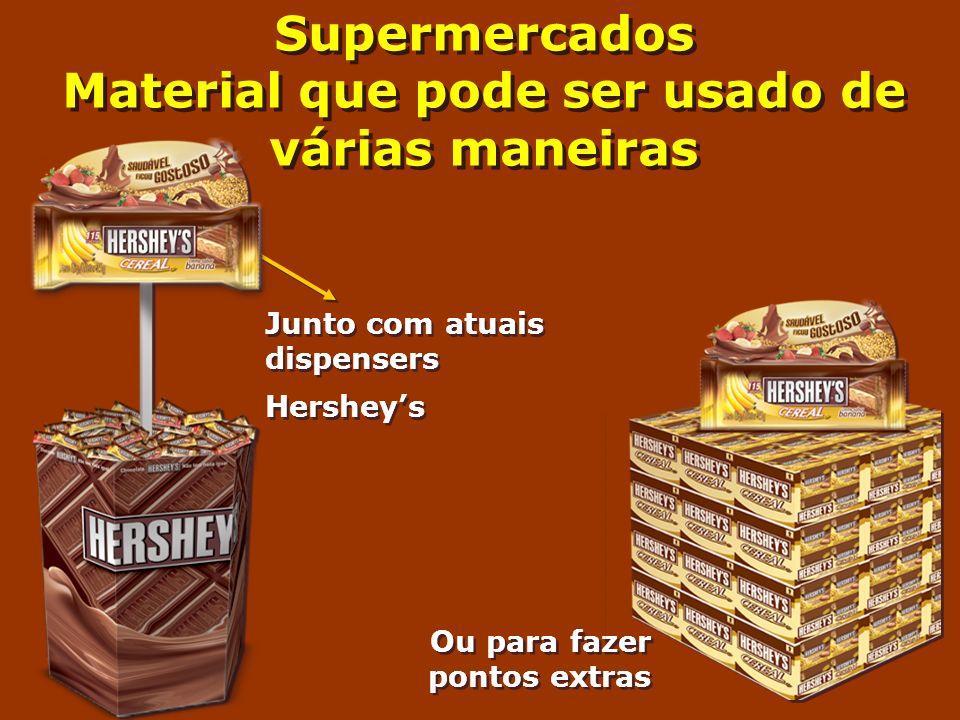 Supermercados Material que pode ser usado de várias maneiras
