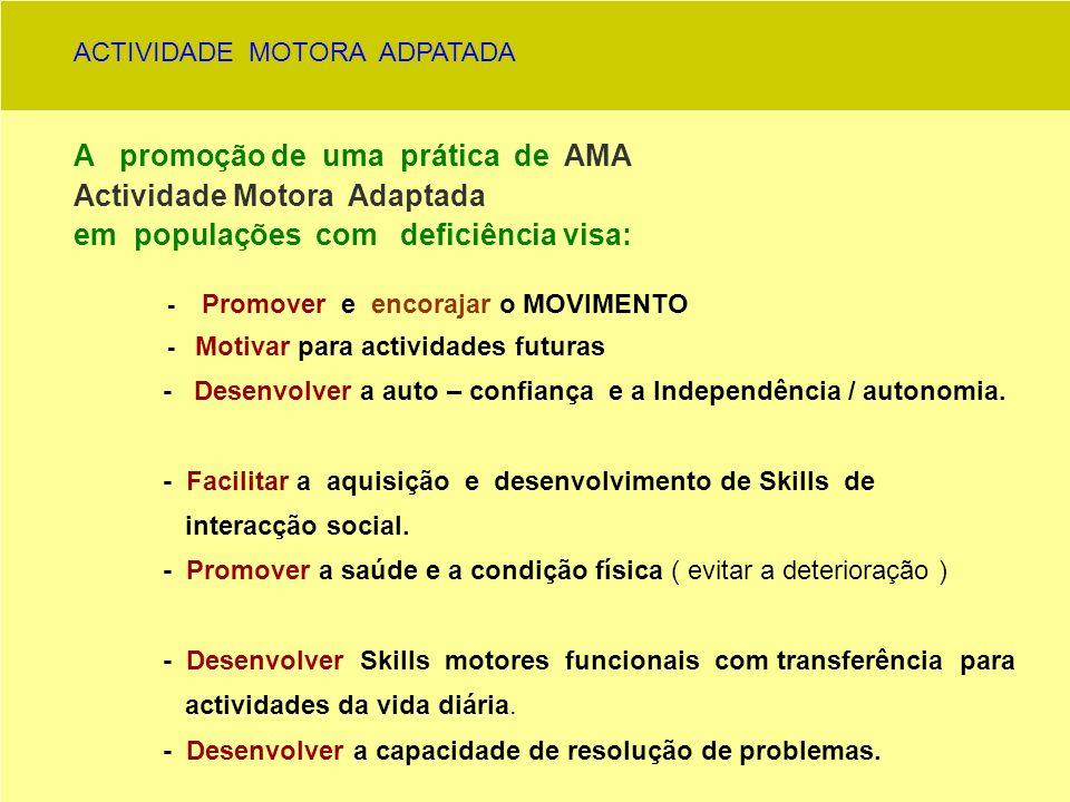 A promoção de uma prática de AMA Actividade Motora Adaptada