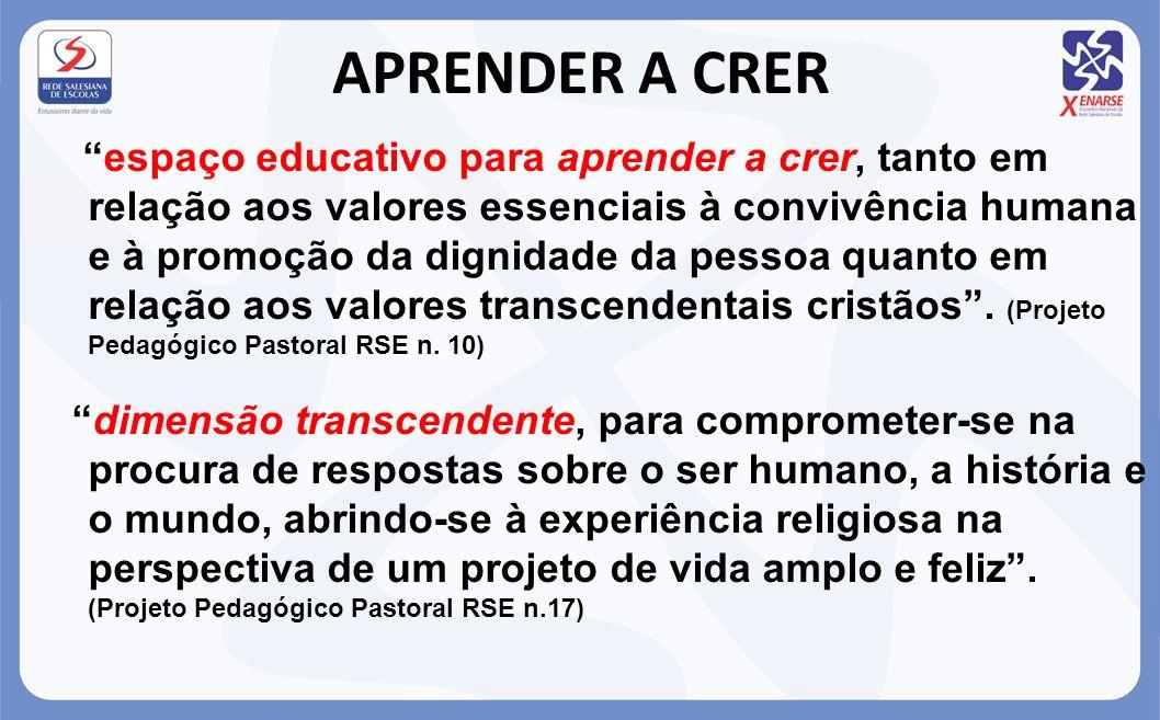APRENDER A CRER