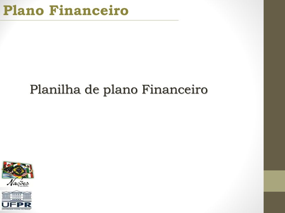 Plano Financeiro Planilha de plano Financeiro