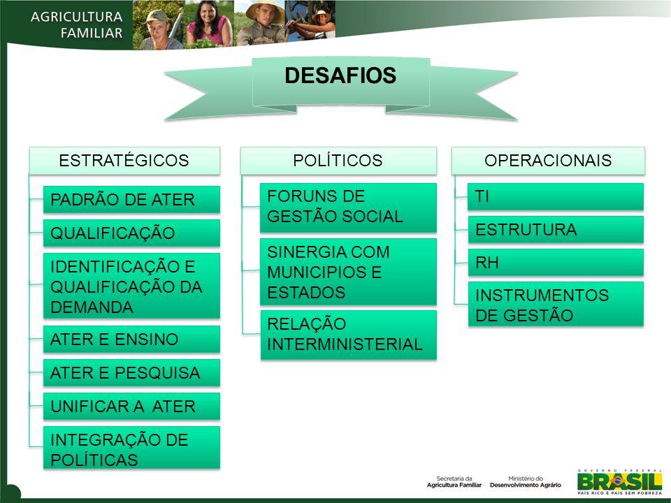 DESAFIOS ESTRATÉGICOS POLÍTICOS OPERACIONAIS PADRÃO DE ATER