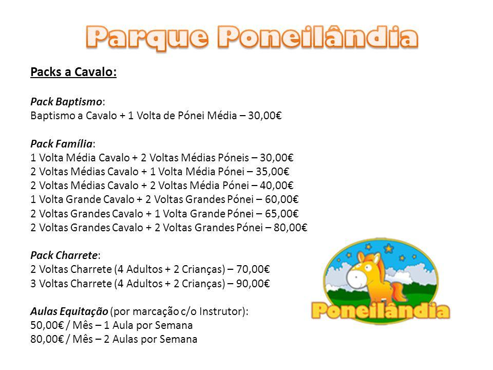 Parque Poneilândia Packs a Cavalo: Pack Baptismo: