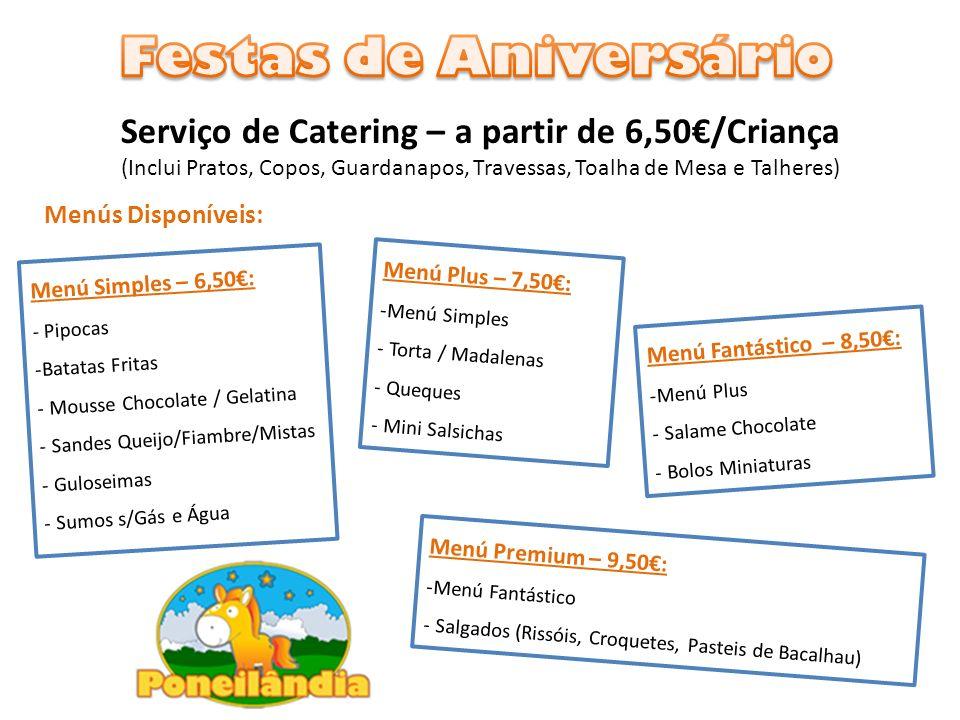 Serviço de Catering – a partir de 6,50€/Criança