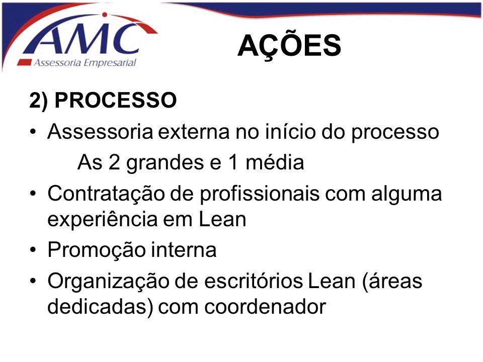 AÇÕES 2) PROCESSO Assessoria externa no início do processo