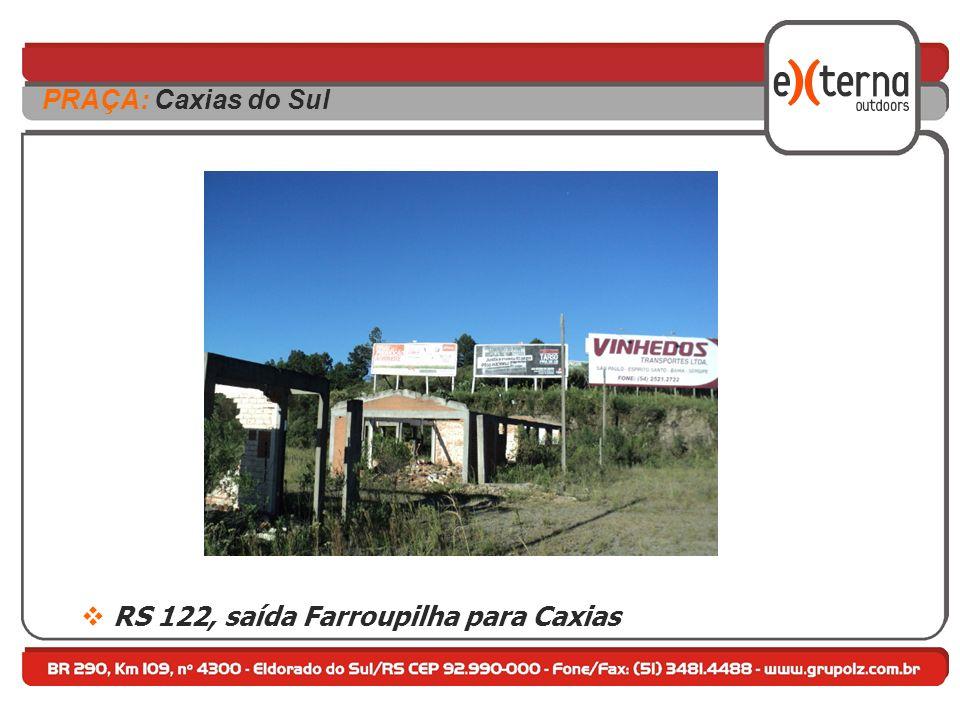 RS 122, saída Farroupilha para Caxias