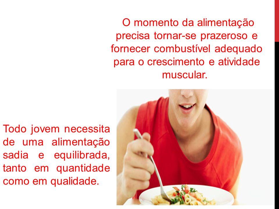 O momento da alimentação precisa tornar-se prazeroso e fornecer combustível adequado para o crescimento e atividade muscular.