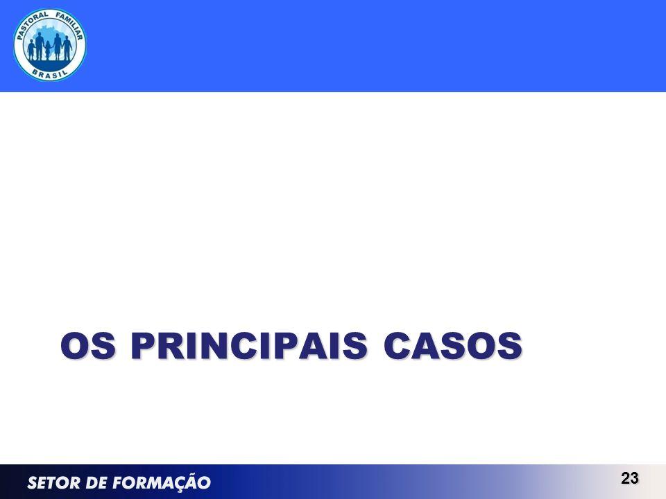 OS PRINCIPAIS CASOS