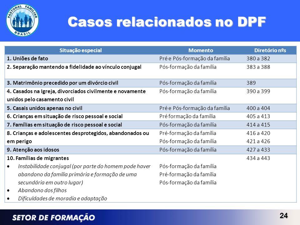 Casos relacionados no DPF