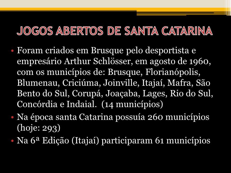 JOGOS ABERTOS DE SANTA CATARINA