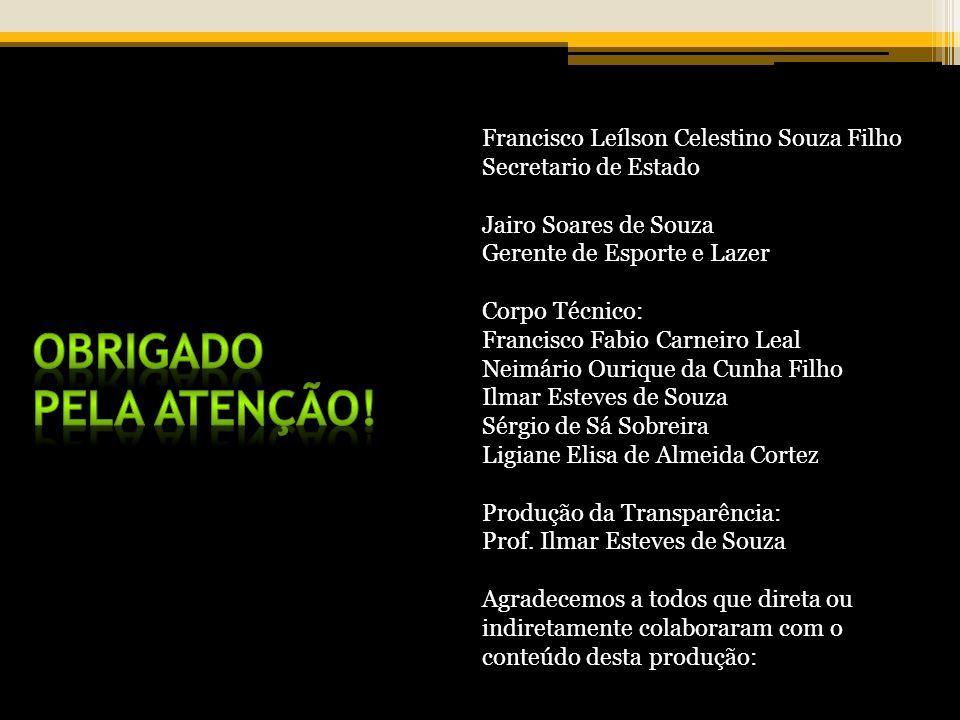 Obrigado pela atenção! Francisco Leílson Celestino Souza Filho