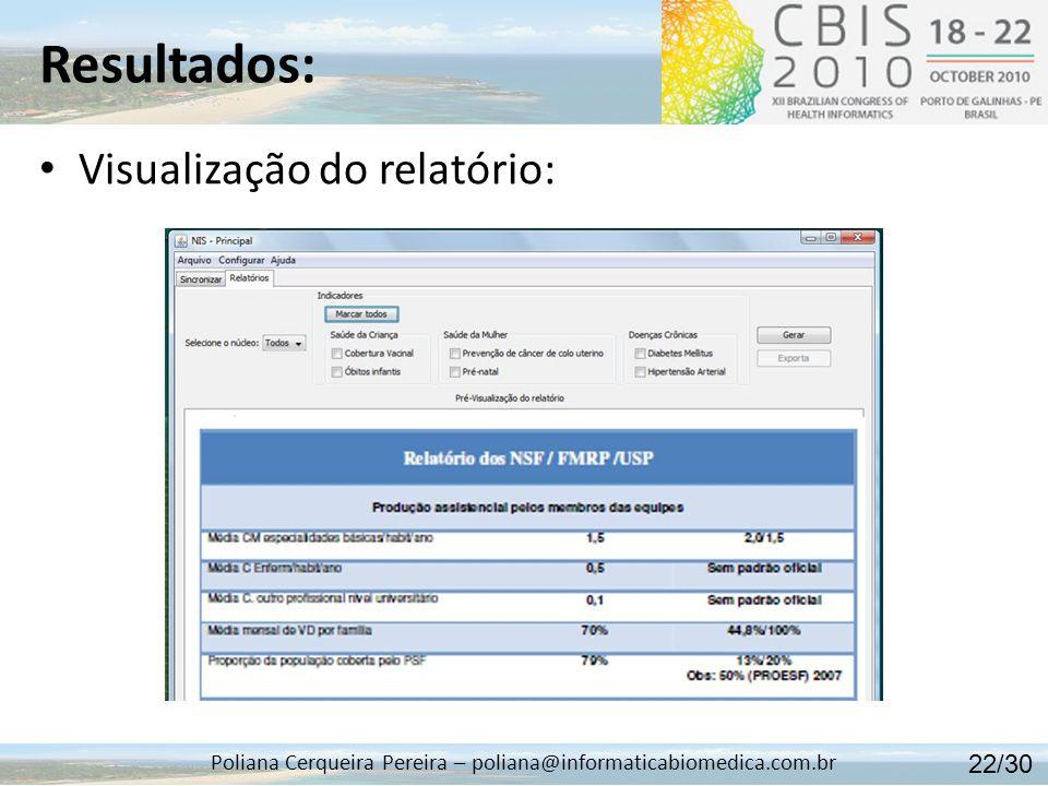 Poliana Cerqueira Pereira – poliana@informaticabiomedica.com.br