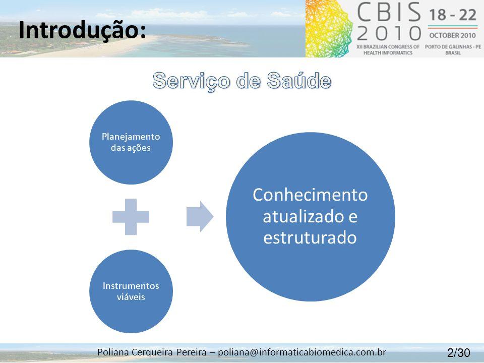 Introdução: Serviço de Saúde Conhecimento atualizado e estruturado