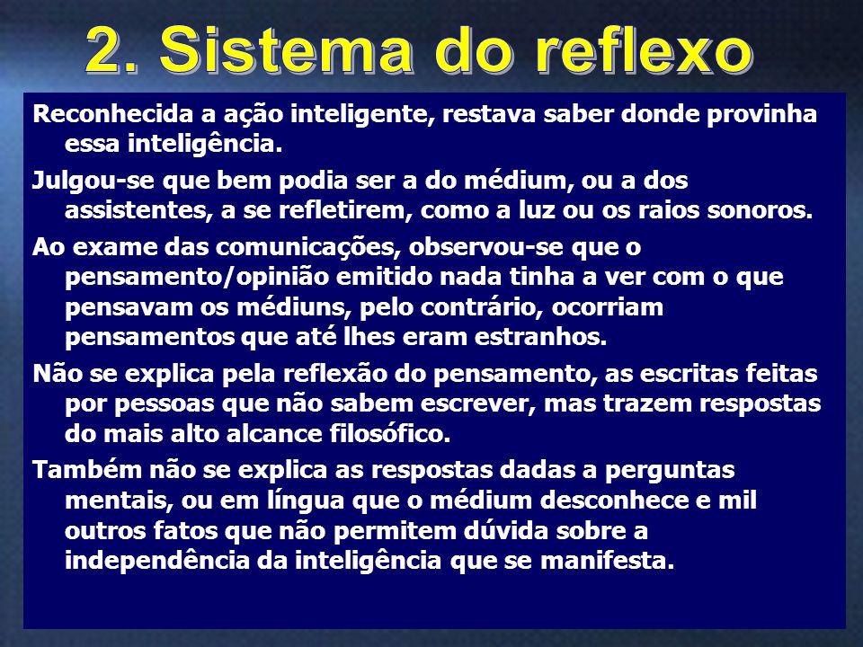 2. Sistema do reflexo Reconhecida a ação inteligente, restava saber donde provinha essa inteligência.