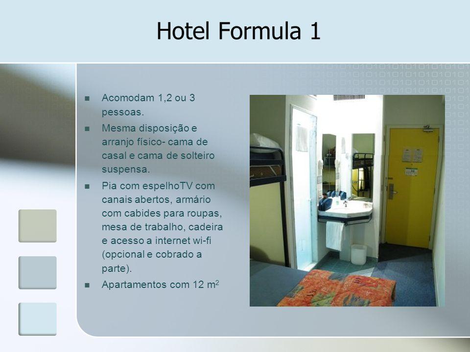 Hotel Formula 1 Acomodam 1,2 ou 3 pessoas.