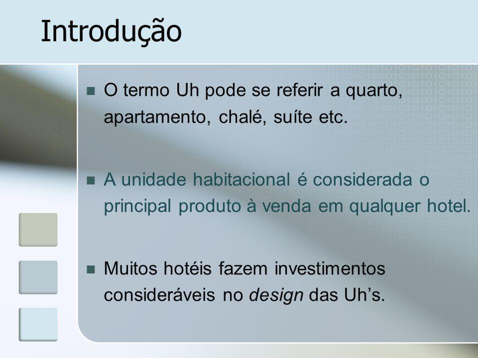Introdução O termo Uh pode se referir a quarto, apartamento, chalé, suíte etc.
