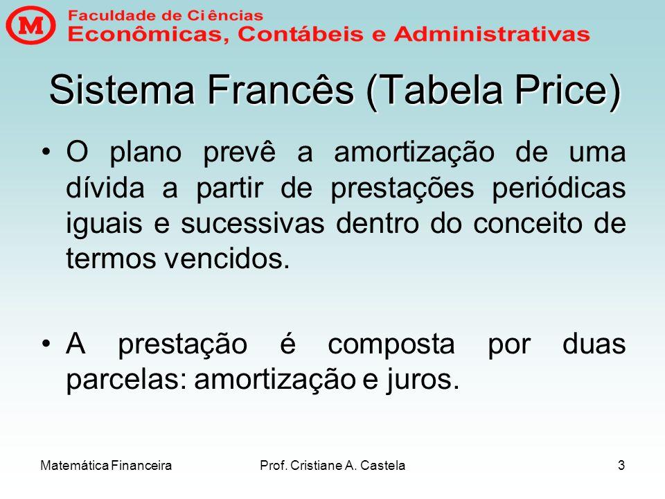 Sistema Francês (Tabela Price)