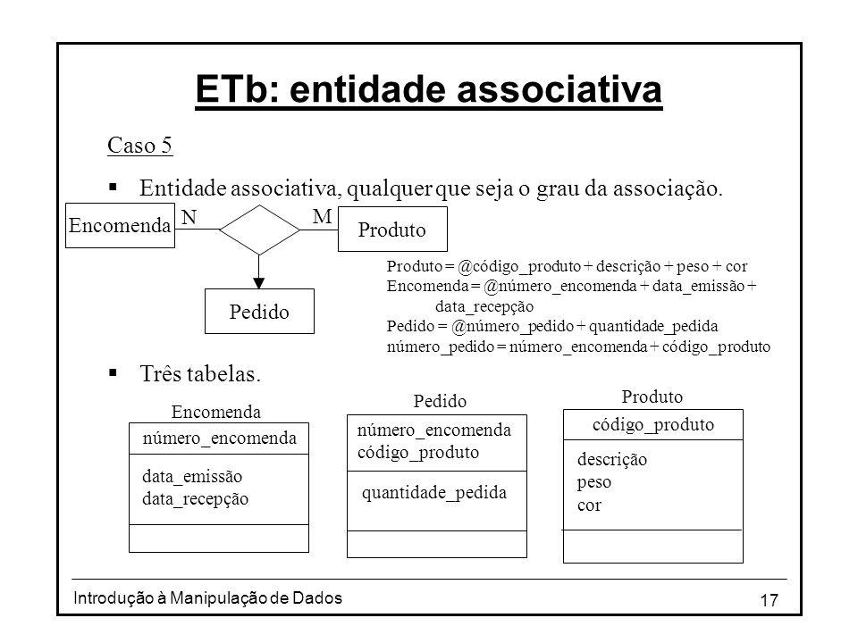 ETb: entidade associativa