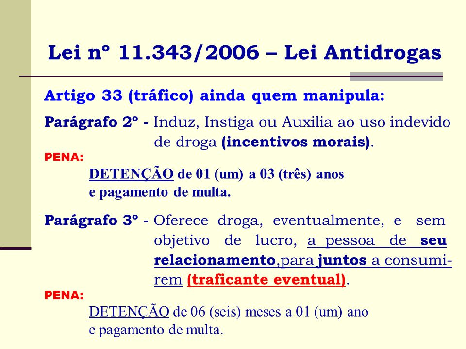Lei nº 11.343/2006 – Lei Antidrogas