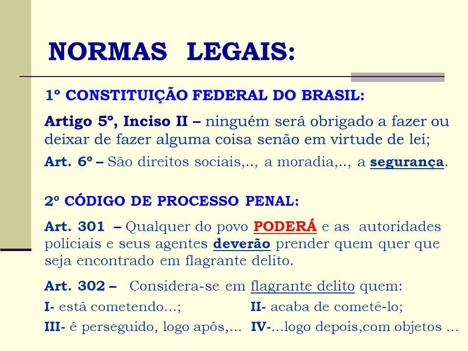 NORMAS LEGAIS: 1º CONSTITUIÇÃO FEDERAL DO BRASIL: