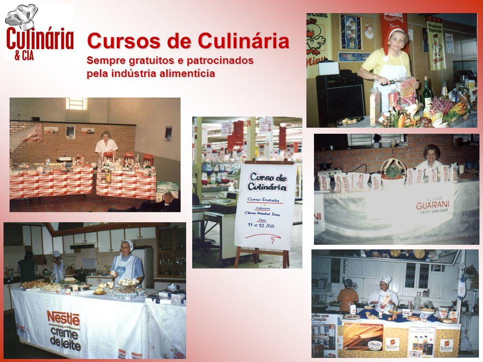 Cursos de Culinária Sempre gratuitos e patrocinados