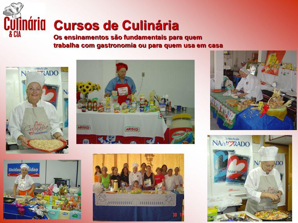 Cursos de Culinária Os ensinamentos são fundamentais para quem