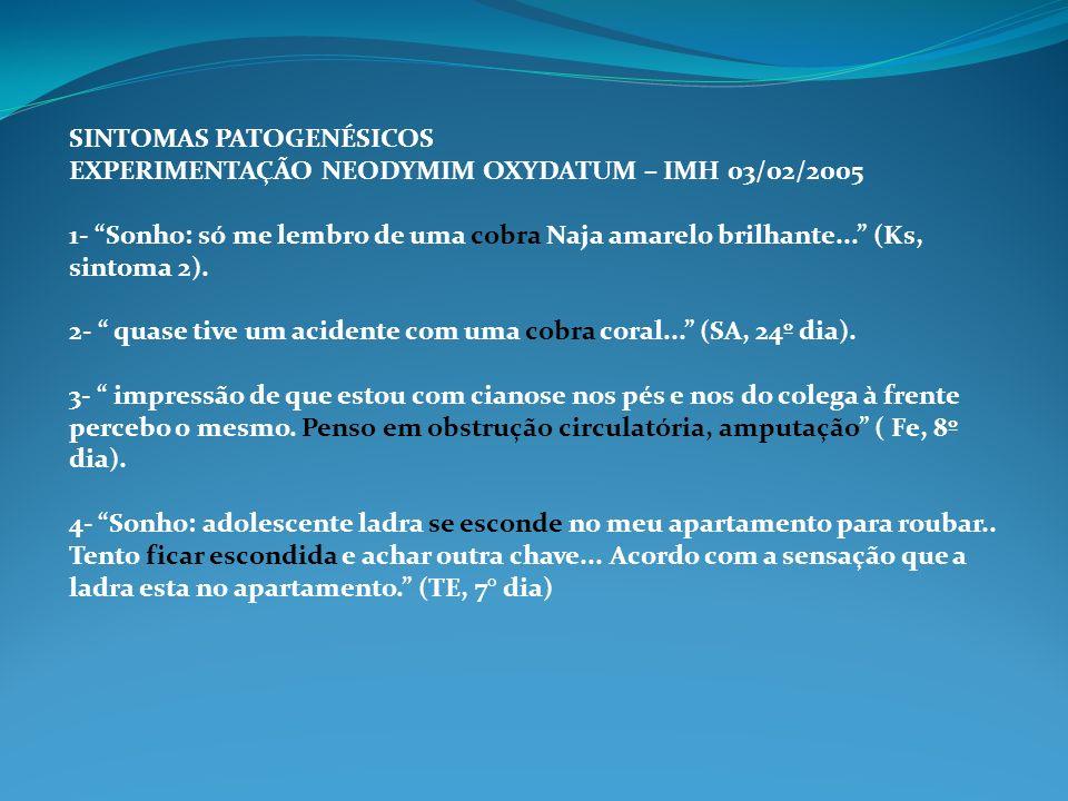 SINTOMAS PATOGENÉSICOS