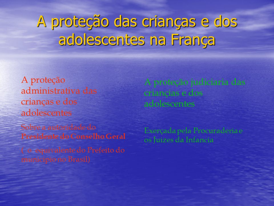 A proteção das crianças e dos adolescentes na França