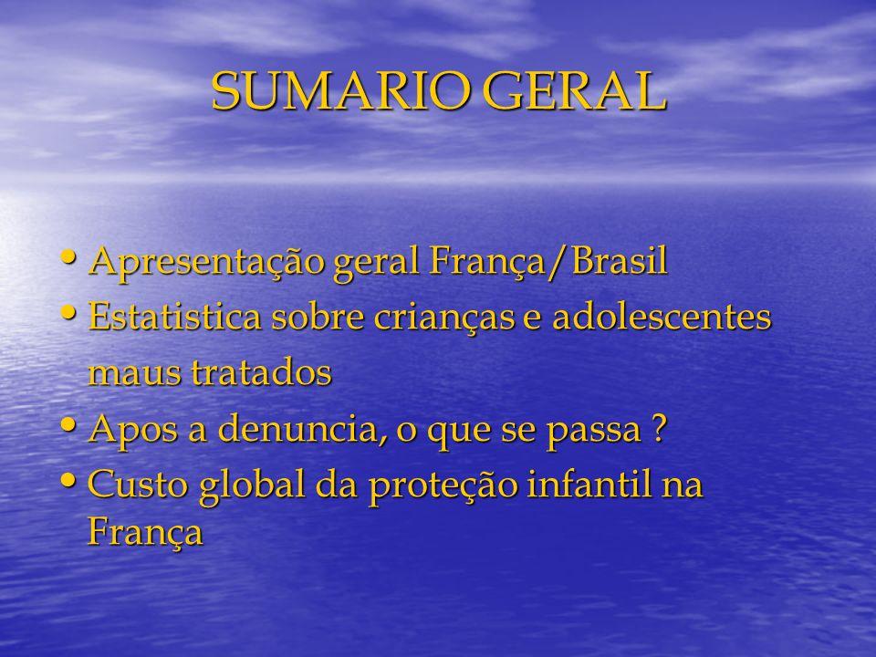 SUMARIO GERAL Apresentação geral França/Brasil