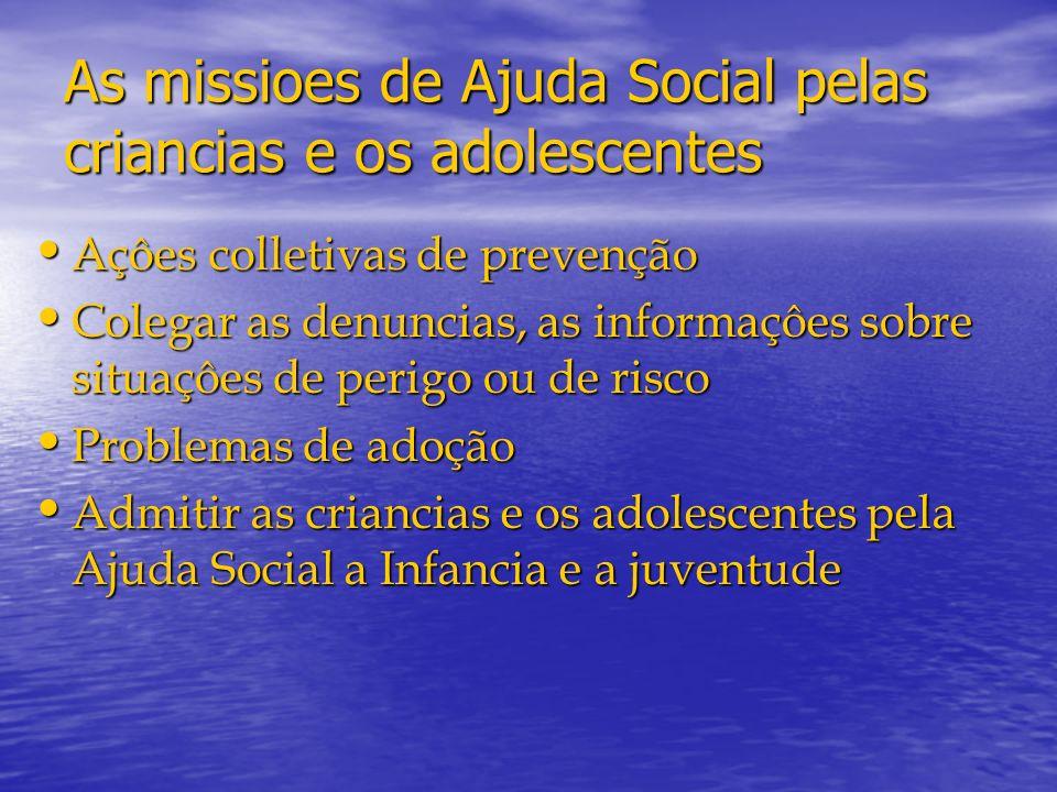 As missioes de Ajuda Social pelas criancias e os adolescentes