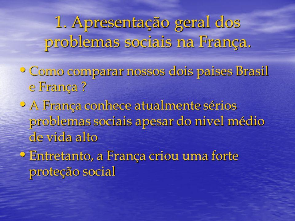 1. Apresentação geral dos problemas sociais na França.
