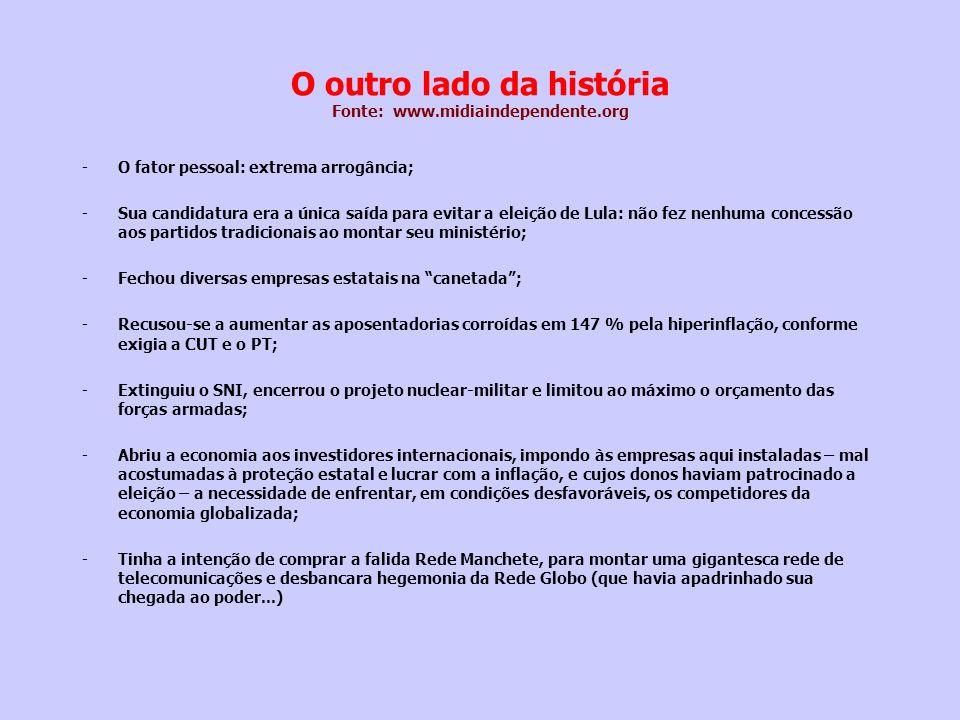 O outro lado da história Fonte: www.midiaindependente.org