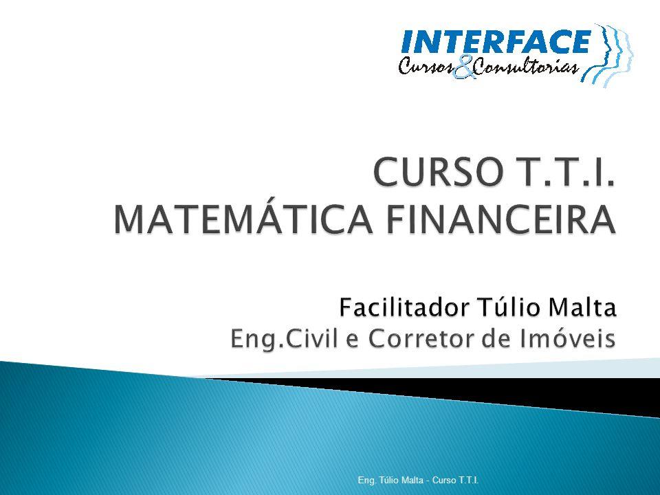 CURSO T. T. I. MATEMÁTICA FINANCEIRA Facilitador Túlio Malta Eng