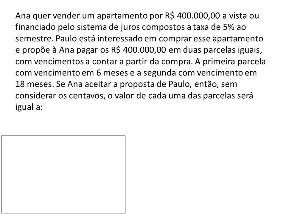 Ana quer vender um apartamento por R$ 400