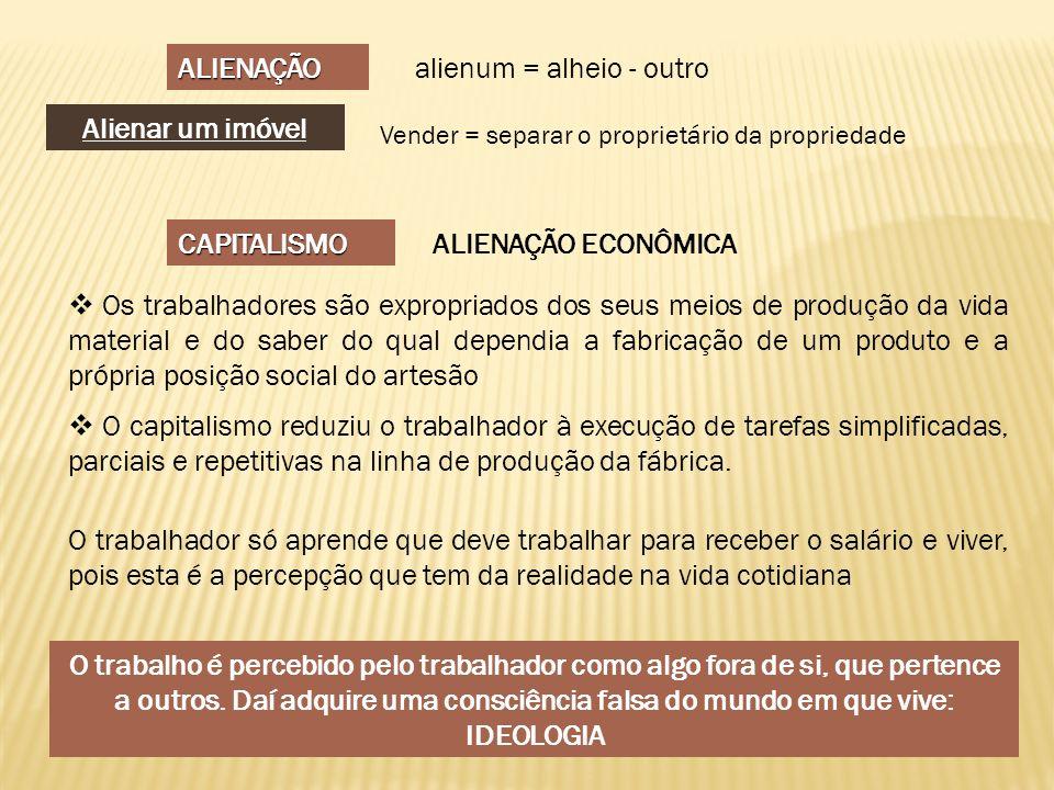 alienum = alheio - outro