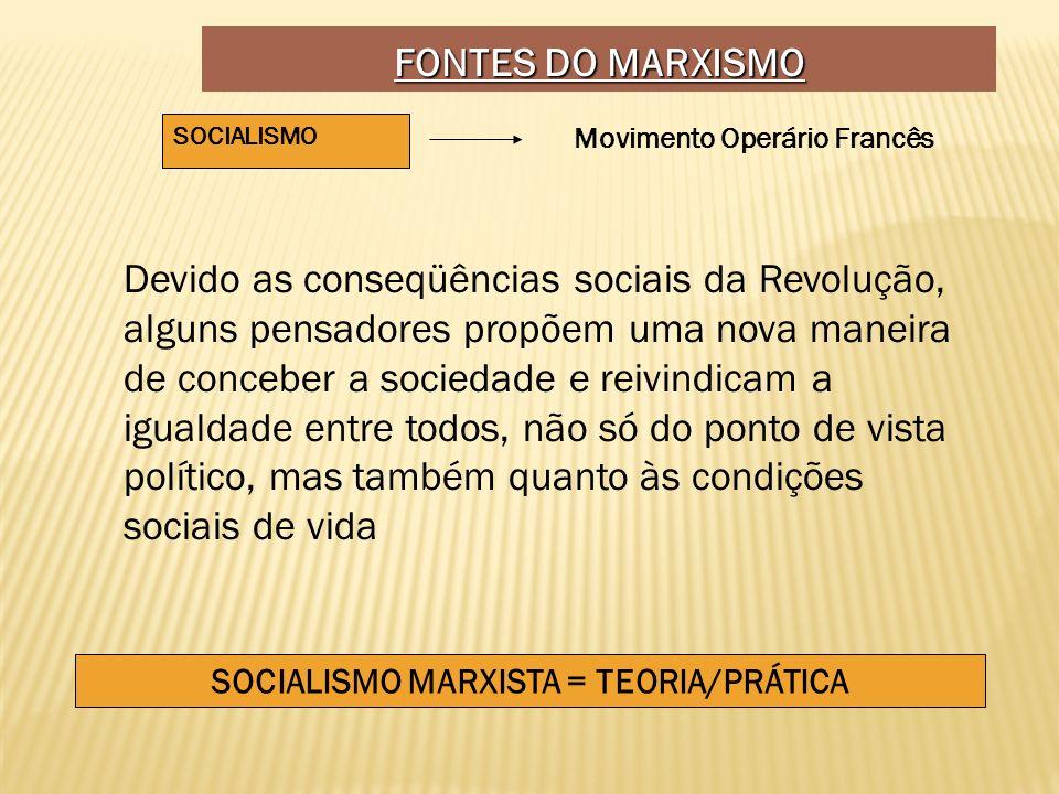 SOCIALISMO MARXISTA = TEORIA/PRÁTICA