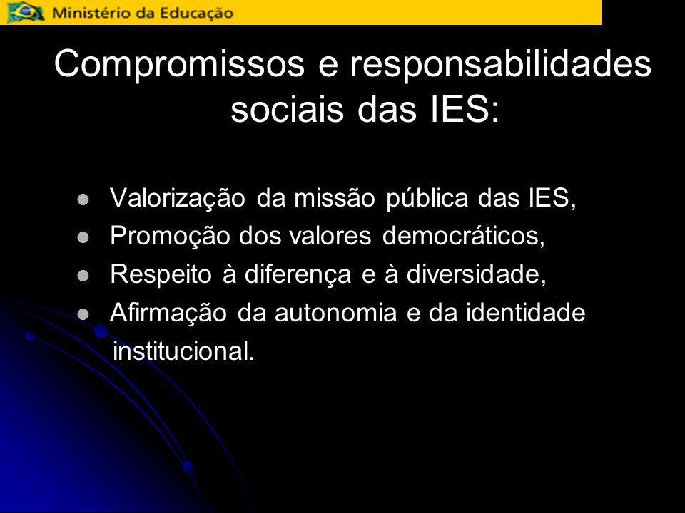 Compromissos e responsabilidades sociais das IES: