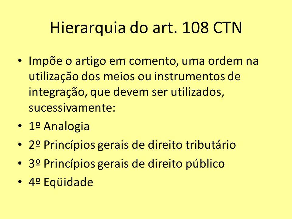 Hierarquia do art. 108 CTN