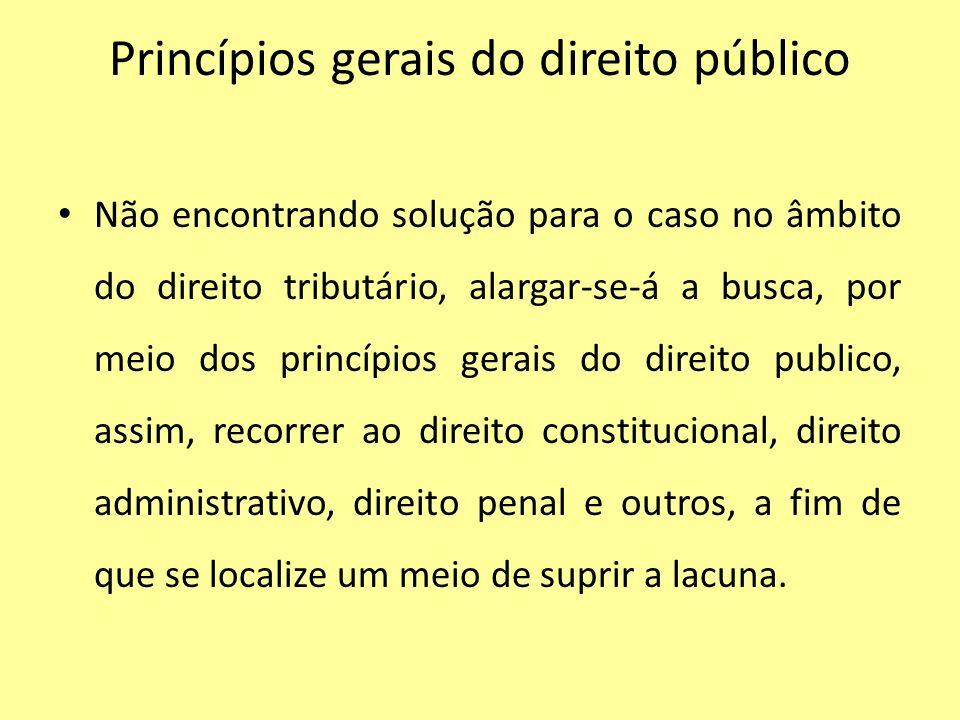 Princípios gerais do direito público