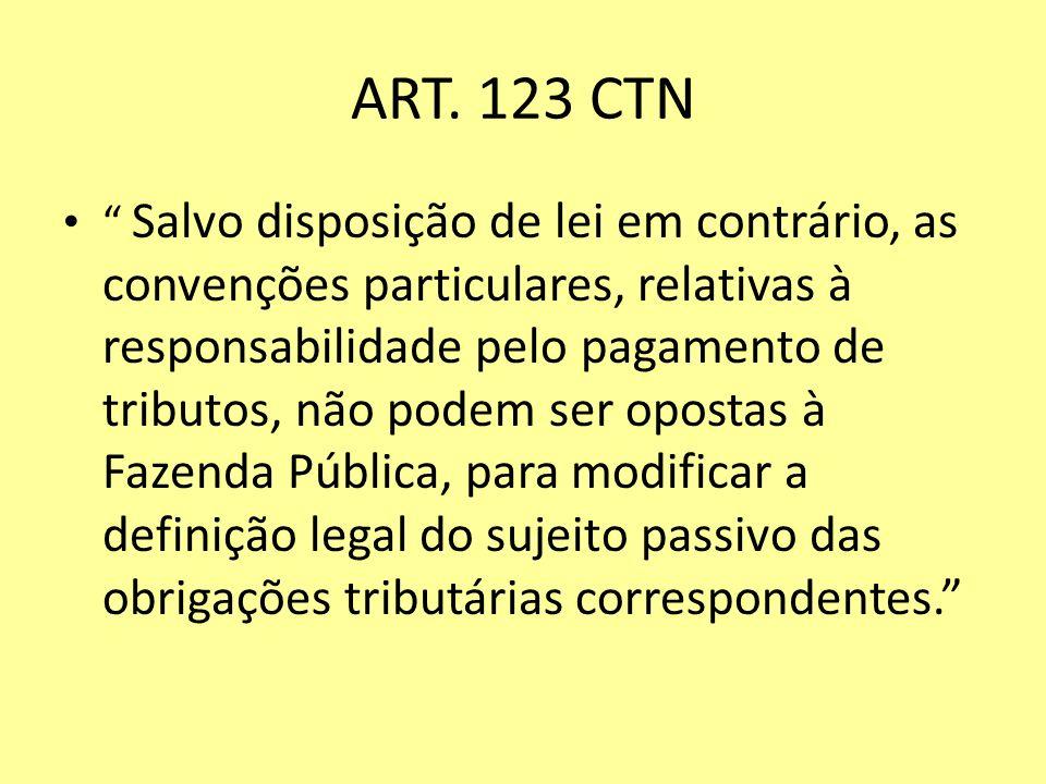 ART. 123 CTN